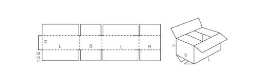 standardowe pudełko klapowe fefco 201